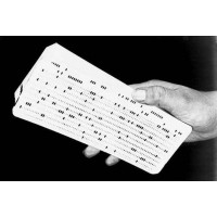 OLD USSR Computer Mainframe Punch Cards Like IBM UNIVAC computers with code