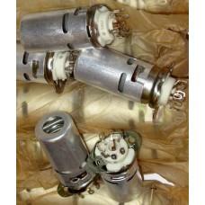 Original 7 Pin Silver Ceramic Socket PL7-2KE-46 PL7 with shield 46mm for EZ90 6X4 6F36 EF93