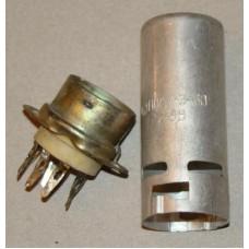 Original 7 Pin PLK7-E60 Silver Ceramic Socket with shield 60mm for EZ90 6X4 6F36 EF93